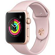 Apple Watch Series 3 42 mm GPS Zlatý hliník s pieskovo ružovým športovým remienkom - Inteligentné hodinky