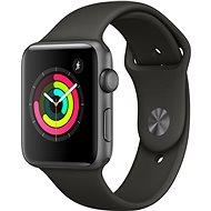 Apple Watch Series 3 42mm GPS Vesmírne sivý hliník so sivým športovým remienkom - Inteligentné hodinky