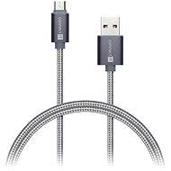 CONNECT IT Wirez Premium Metallic micro USB 1m tmavo-sivý - Dátový kábel