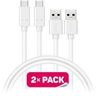 CONNECT IT Wirez USB-C 1m biely, 2 ks - Dátový kábel