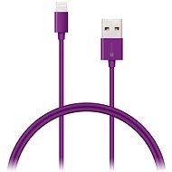 CONNECT IT Colorz Lightning Apple 1m fialový - Dátový kábel