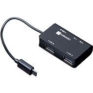 CONNECT IT OTG Hub&Reader, USB+micro USB - Čítačka kariet