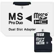 CONNECT IT MS PRO DUO na 2x Micro SDHC - Adaptér