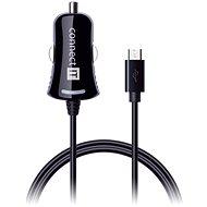 CONNECT IT InCarz Charger s micro USB káblom 1,5 metra, čierna - Nabíjačka do auta