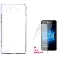CONNECT IT S-Cover Microsoft Lumia 950/950 Dual SIM číre - Puzdro na mobilný telefón