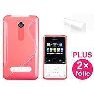 CONNECT IT S-Cover Nokia Asha 210 červené - Puzdro na mobilný telefón