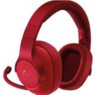 Logitech G433 Surround Sound Gaming Headset červený - Slúchadlá s mikrofónom
