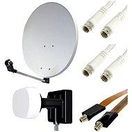 Set pre TV so satelitným tunerom - 2 družice, 1 prijímač - Parabola