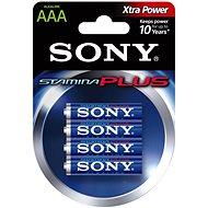 Sony STAMINA PLUS, LR03/AAA 1.5V, 4 ks