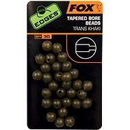 FOX Edges Tapered Bore Beads 4mm Trans Khaki 30ks - Korálky