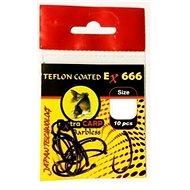 Extra Carp Teflon Hooks EX 666 Barbless Velikost 4 10ks