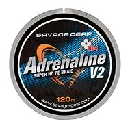 Savage Gear Šňůra HD4 Adrenaline V2 0,13mm 17lbs 7,8kg 120m Šedá - Šnúra