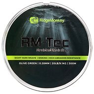 RidgeMonkey RM-Tec Braided Mainline 0,28mm 20lb 300m Zelená