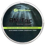 RidgeMonkey RM-Tec Braided Mainline 0,35mm 30lb 300m Zelená