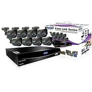 KGUARD hybridný 8-kanálový DVR rekordér + 8× farebná vonkajšia kamera - Kamerový systém