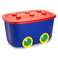 KIS Funny box L červený / modrý 46l - úložný box