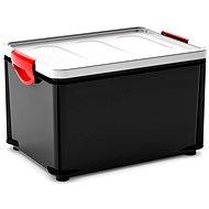 KIS Clipper Box L čierny-šedé veko 33l - Úložný box