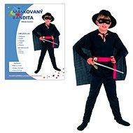 Šaty na karneval – Maskovaný bandita veľkosť M - Detský kostým