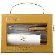 LA-TWEEZ Pro Illuminating Tweezers & Mirrored Carry Case With Diamond Dust Tips Gold - Pinzeta