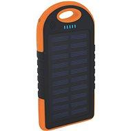 XLAYER Powerbank PLUS Outdoor Solar 4000 mAh čierna/oranžová - Power Bank