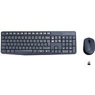 Logitech Wireless Combo MK235 CZ šedý - Súprava klávesnice a myši