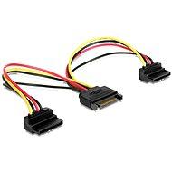 Gembird Cableexpert SATA napájací na 2x SATA 90 °, rozdvojka, 15 cm - Dátový kábel
