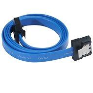 AKASA PROSLIM SATA 30 cm modrý - Dátový kábel