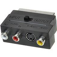 scart - 3x cinch + S-video, prepínateľné IN/OUT - Redukcia