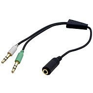 OEM audio 4-pólový 3,5 mm JACK --> 2x 3,5 mm JACK - Redukcia