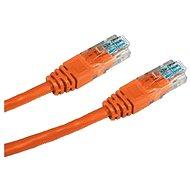 Datacom, CAT5E, UTP, 0,5 m, oranžový - Sieťový kábel