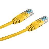 Datacom, CAT6, UTP, 1m, žltý - Sieťový kábel
