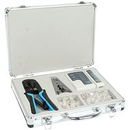 Network Kit, sieťový tester, krimpovacie kliešte 8P + 6P, RJ45 konektory - Súprava