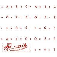 Prelepky na klávesnice, červené, poľskej - Prelepky