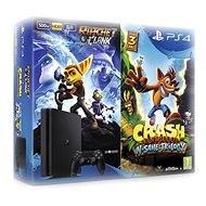 PlayStation 4 - 500GB Slim + 2 hry: Crash Bandicoot N. Sane Trilogy + Ratchet&Clank - Herná konzola