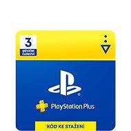 PlayStation Plus 3 měsíční členství - CZ Digital - Dobíjacia karta