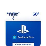 PlayStation Store - Kredit 30 EUR - SK Digital - Dobíjecí karta