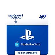 PlayStation Store - Kredit 45 EUR - SK Digital - Dobíjecí karta