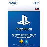 PlayStation Store - Kredit 50 EUR - SK Digital - Dobíjecí karta