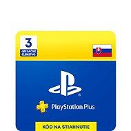 PlayStation Plus 3 měsíční členství - SK Digital - Dobíjecí karta