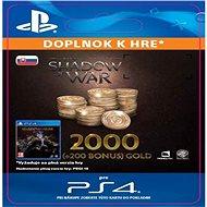 Shadow of War - 2,200 Gold - SK PS4 Digital