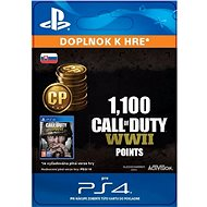 1,100 Call of Duty: WWII Points - PS4 SK Digital
