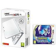 Nintendo NEW 3DS XL Pearl White + Pokemon Moon - Herná konzola