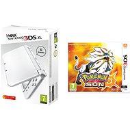 Nintendo NEW 3DS XL Pearl White + Pokemon Sun - Herná konzola