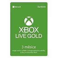 Microsoft Xbox 360 Live 3 Month Gold Membership Card (Digitálny kód) - Zlatá členská karta pre Xbox Live!