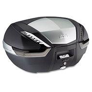 GIVI V 47NT TECH kufor čierny (MONOKEY) s čírymi odrazkami a čiastočne hliníkovým vekom, objem 47 ltr. - Moto kufor