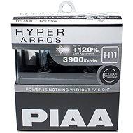 Autožiarovky PIAA Hyper Arros 3900K H11 - o 120 percent vyššia svietivosť, zvýšený jas - Autožiarovka