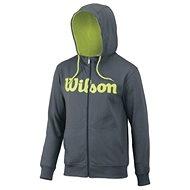 Wilson M Script Cotton FZ Hoody Dk Grey / GR - Mikina