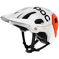 POC Tectal Race Hydrogen White / Iron Orange - Cyklistická helma
