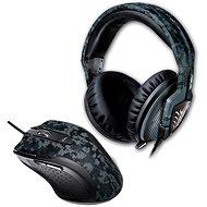 ASUS Slúchadlá s mikrofónom Echelon Navy + Myš Gaming Laser - Súprava