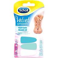 SCHOLL Velvet Smooth Nail Care pink - náhradné hlavice 3 ks - Náhradná hlavica